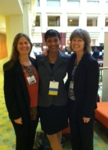 Left to right: Virginia Clark, Faith Mitchell and Kathy Sessions at GIH's 2013 annual meeting.