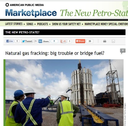 News story from American Public Media on the debate over fracking.